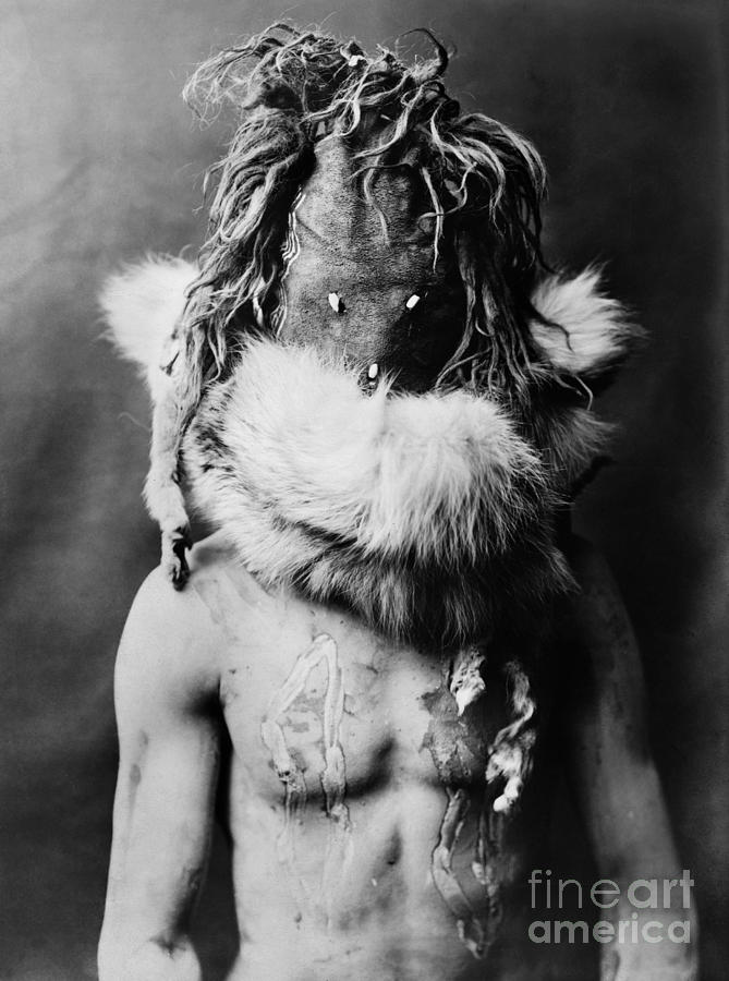 Navajo Mask, C1905 Photograph
