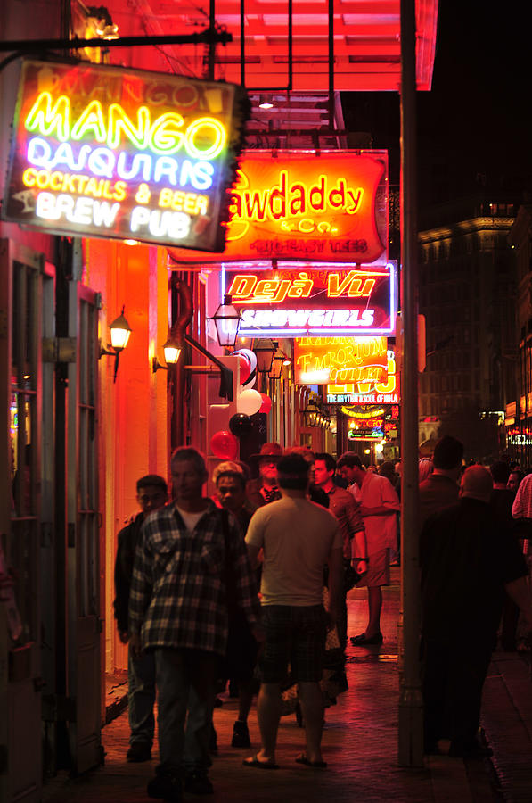 Neons On Bourbon Street Photograph