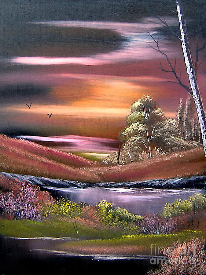 Adams-cynthia Painting - Neverland by Cynthia Adams