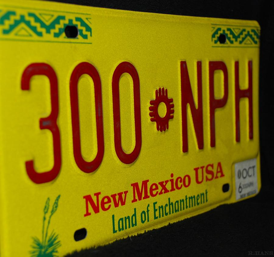 New Mexico Tag Photograph  - New Mexico Tag Fine Art Print