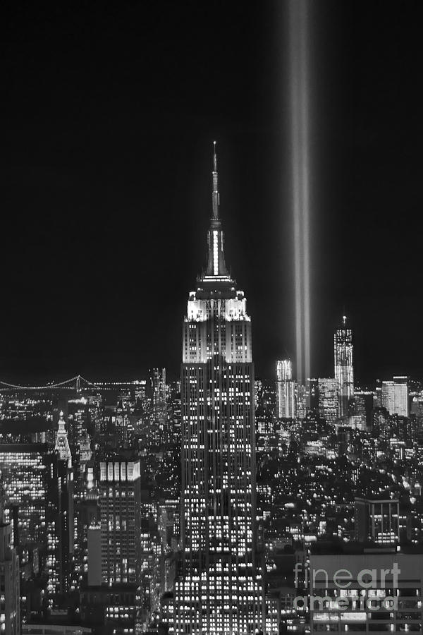 New York City Tribute In Lights Empire State Building Manhattan At Night Nyc Photograph  - New York City Tribute In Lights Empire State Building Manhattan At Night Nyc Fine Art Print
