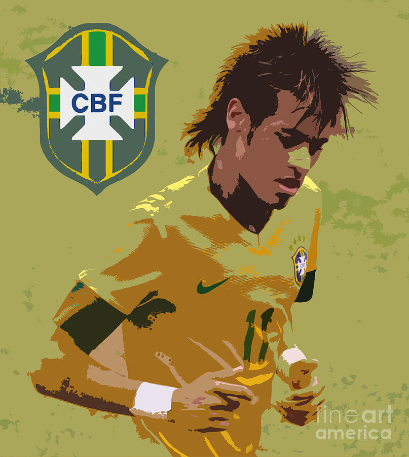 Neymar Art Deco Photograph