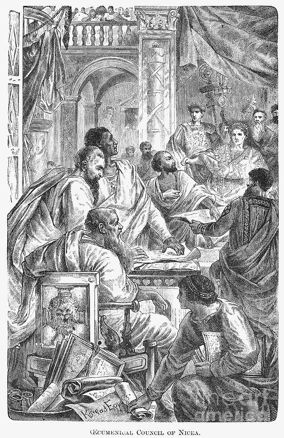 325 Photograph - Nicaea Council, 325 A.d by Granger