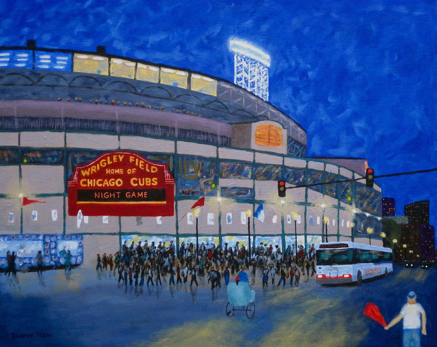 Night Game Painting  - Night Game Fine Art Print