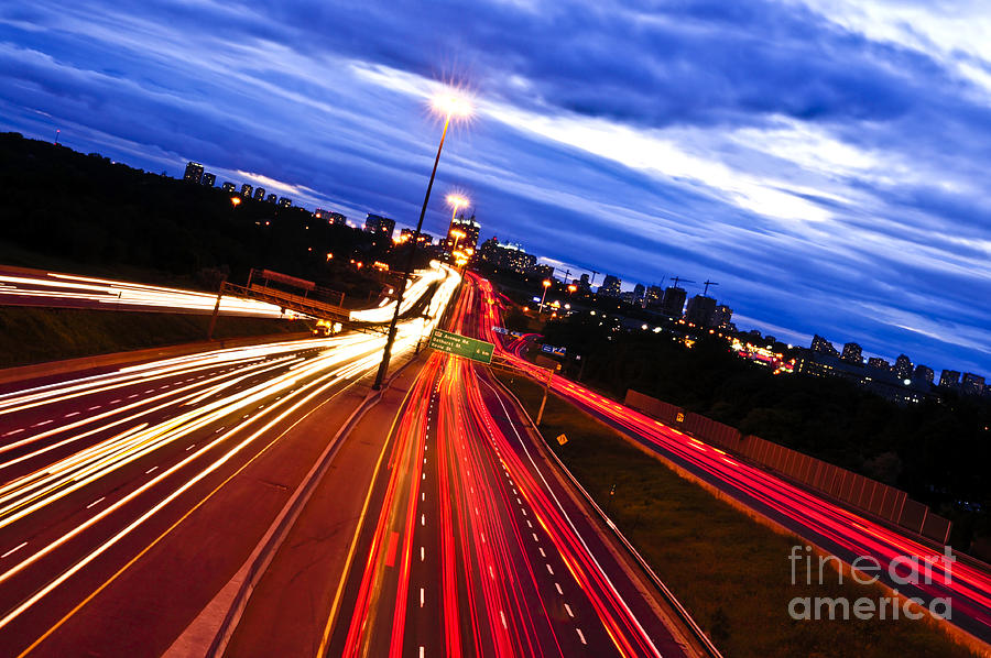 Night Traffic Photograph