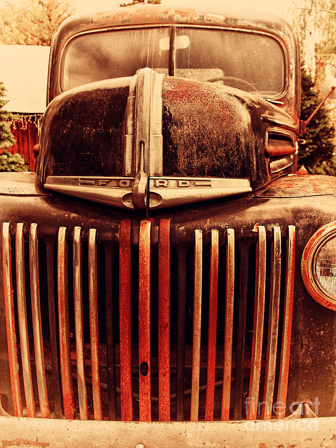 Nostalgic Rusty Old Ford Truck . 7d10281 Photograph  - Nostalgic Rusty Old Ford Truck . 7d10281 Fine Art Print