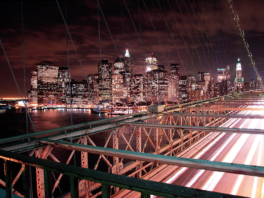 Nyc Night Lights Photograph  - Nyc Night Lights Fine Art Print