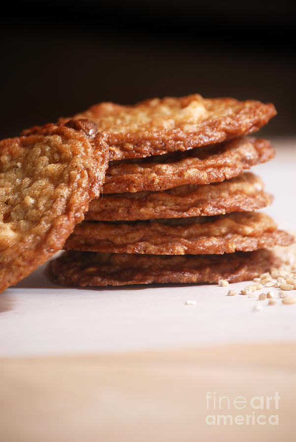 Oatmeal Cookies Photograph  - Oatmeal Cookies Fine Art Print
