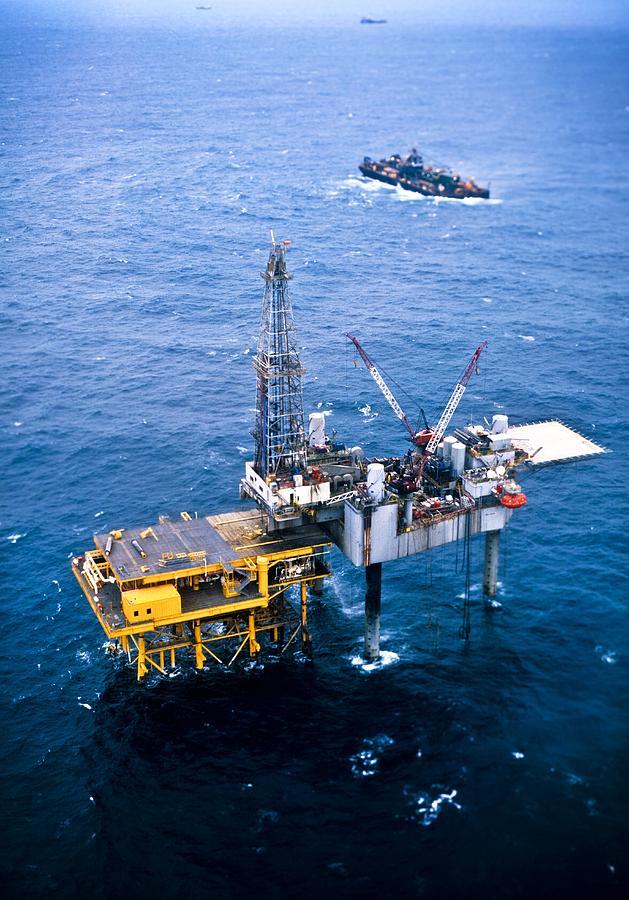 Equipment Photograph - Oil Platform by Arno Massee