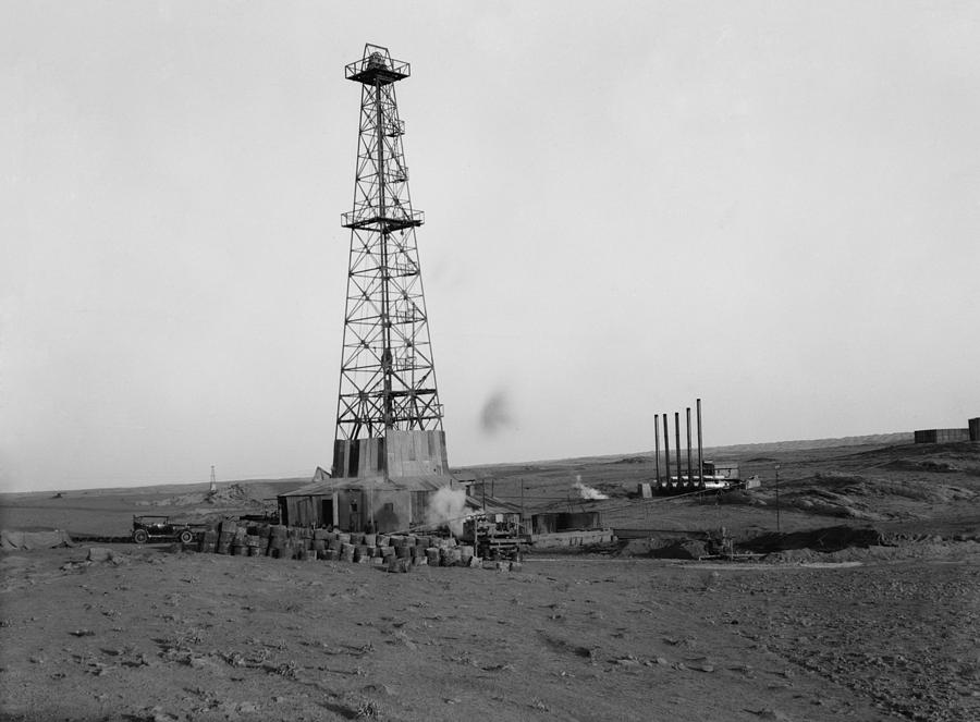 Oil Wells Of The Iraq Petroleum Company Photograph  - Oil Wells Of The Iraq Petroleum Company Fine Art Print