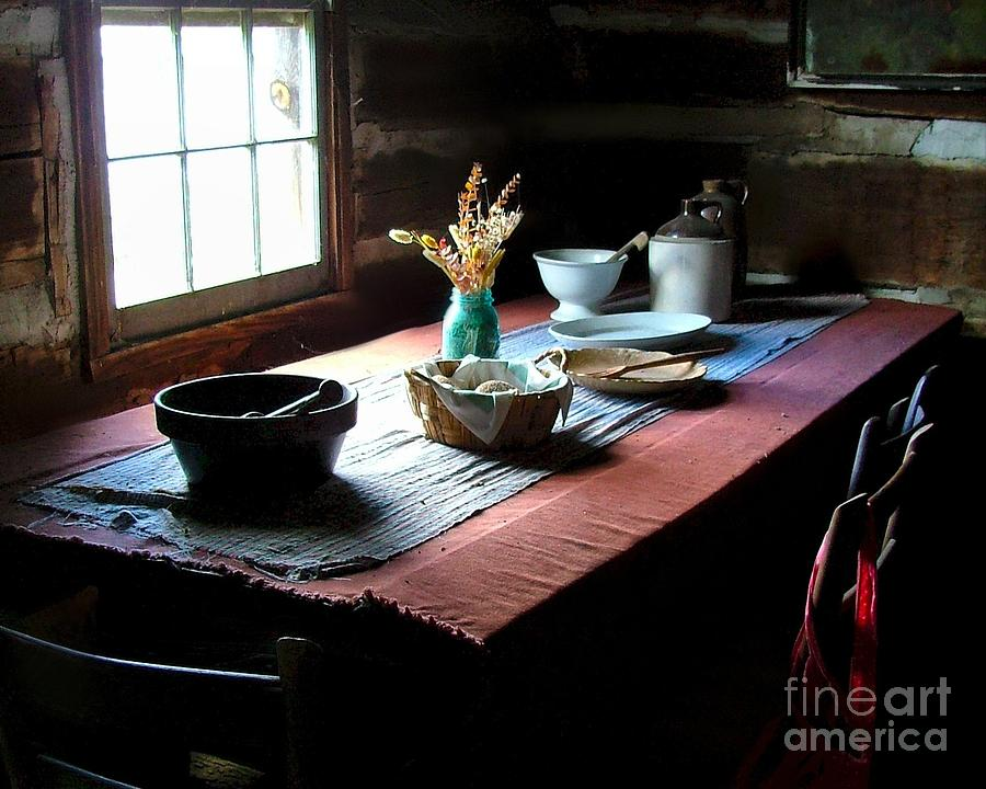 Old Cabin Table Photograph