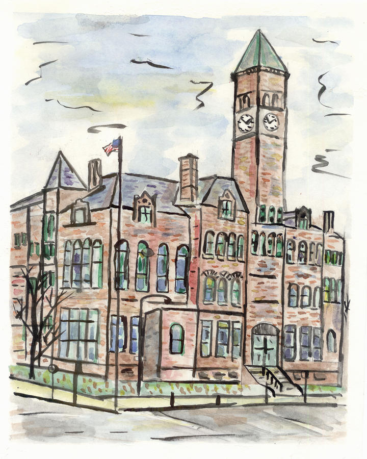 Old Courthouse Museum Painting