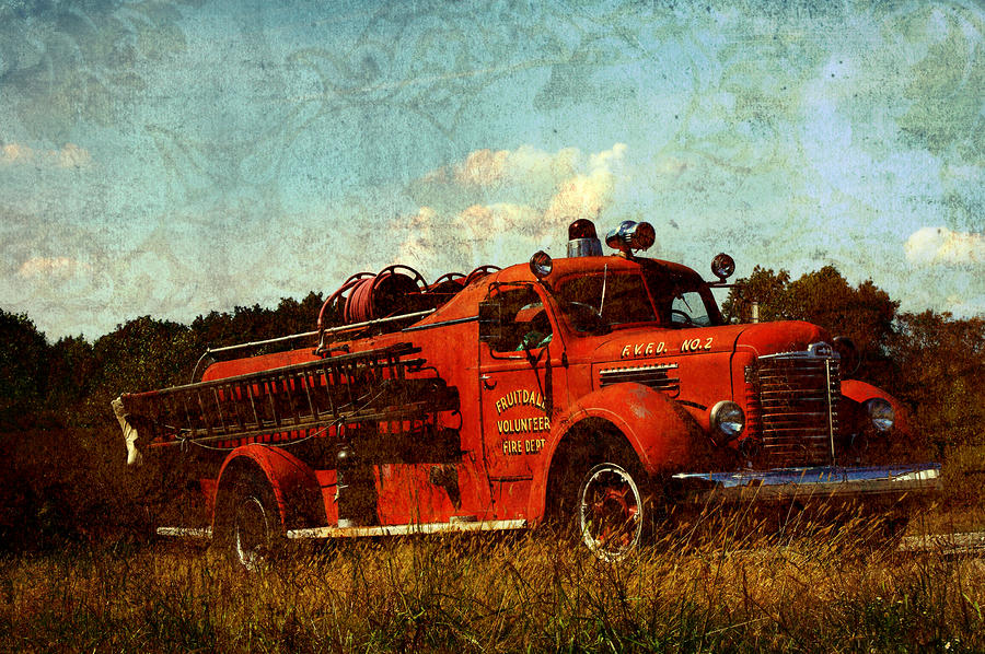 Old Fire Truck Photograph  - Old Fire Truck Fine Art Print
