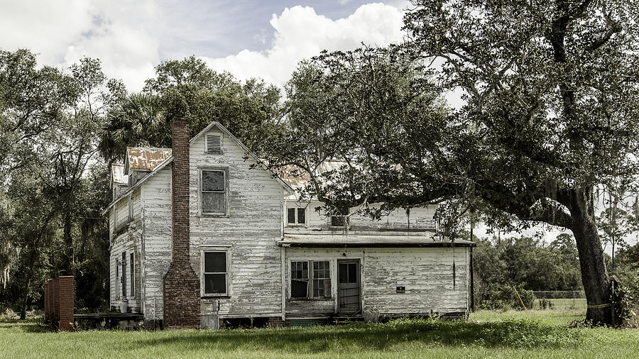 Old Florida Farmhouse Photograph  - Old Florida Farmhouse Fine Art Print