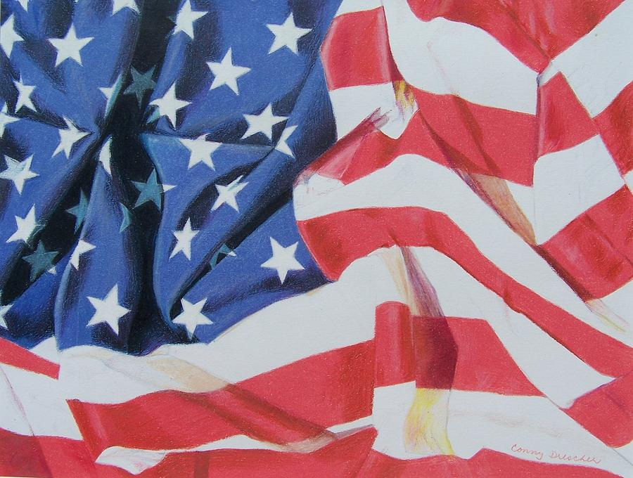 Old Glory Mixed Media  - Old Glory Fine Art Print
