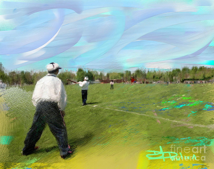 Old Time Baseball Painting