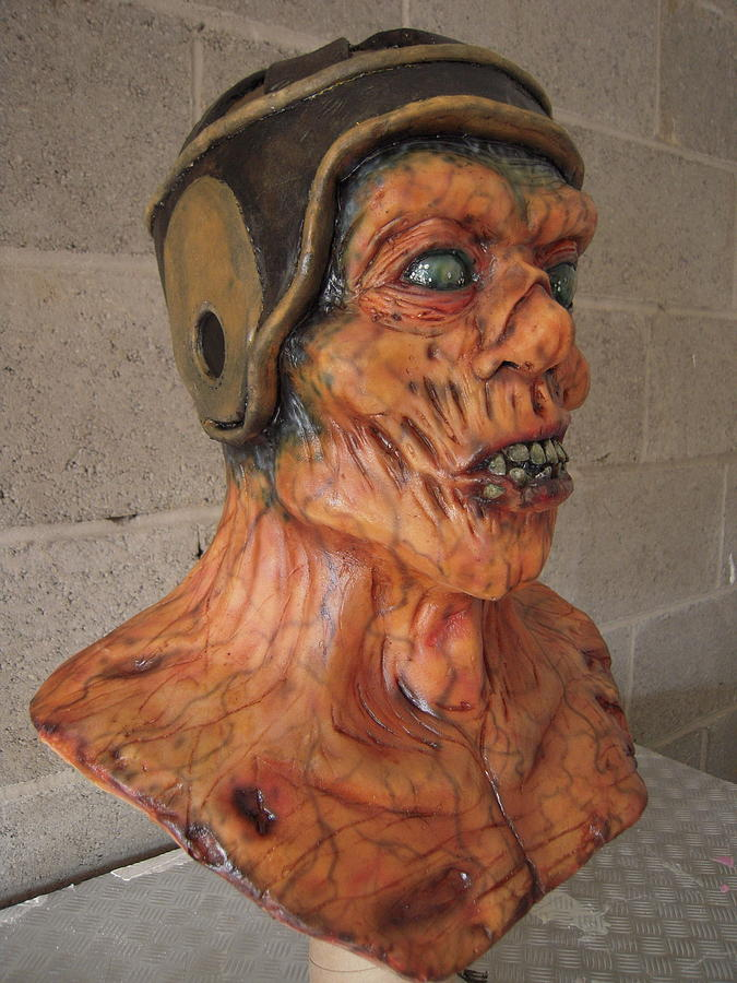 Ole Leather Head Sculpture
