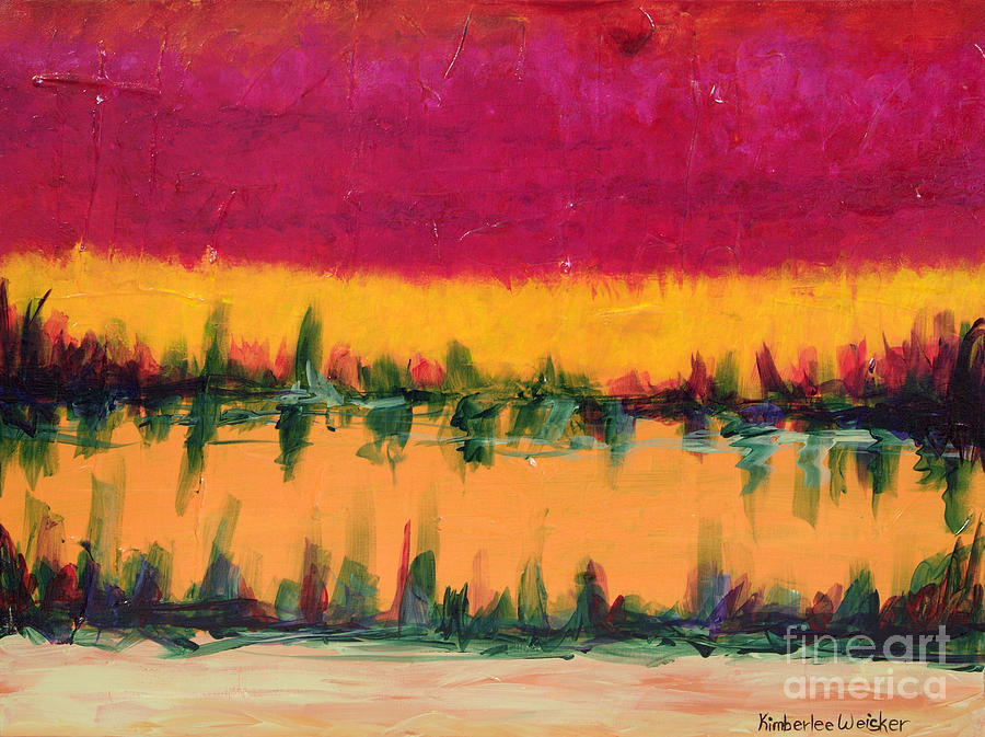 On Golden Pond Painting  - On Golden Pond Fine Art Print