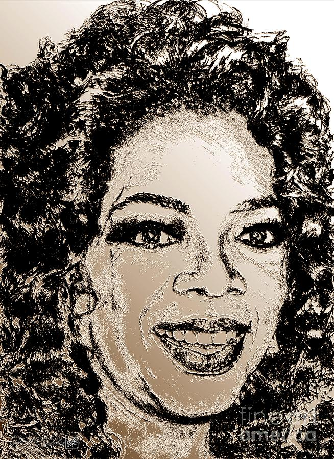 Oprah Winfrey In 2007 Digital Art  - Oprah Winfrey In 2007 Fine Art Print