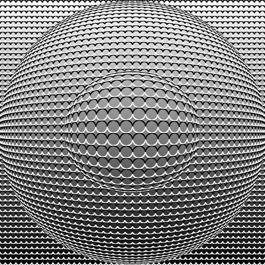 Optical Digital Art - Optical Illusion Circle In Circle by Sumit Mehndiratta