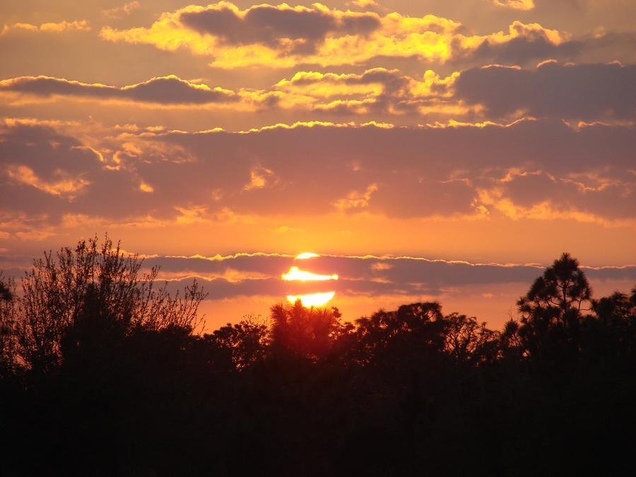 Orange Sunset  Photograph