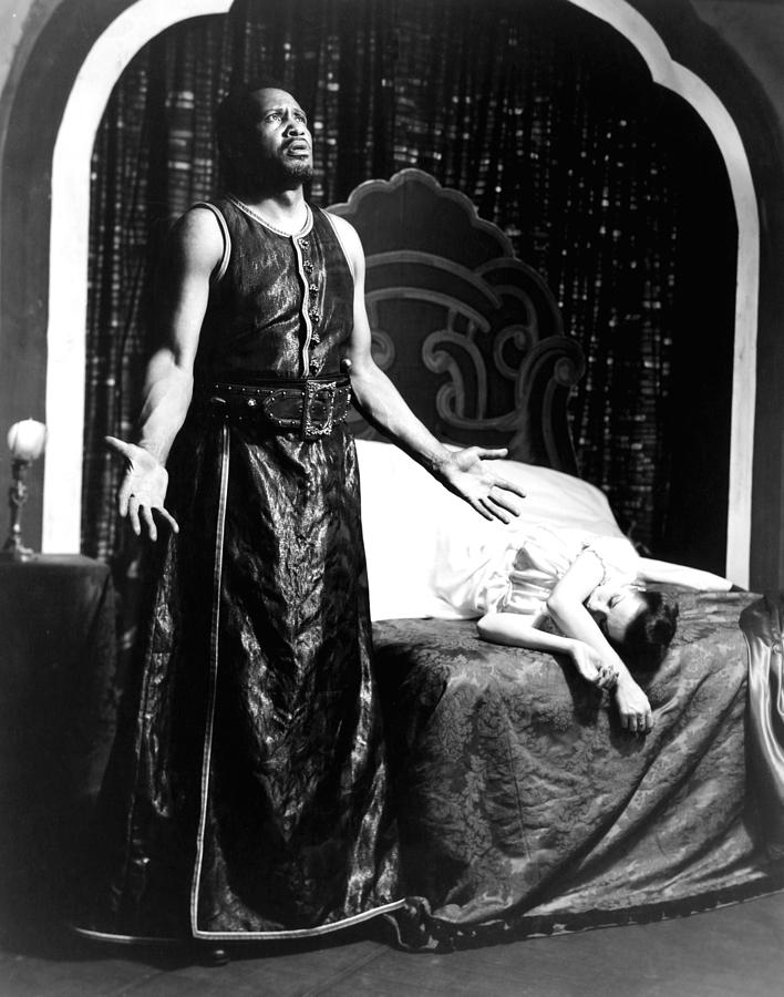 Othello, Uta Hagen As Desdemona, Paul Photograph  - Othello, Uta Hagen As Desdemona, Paul Fine Art Print