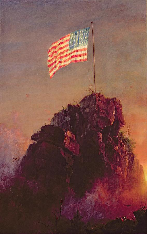 Our Flag Painting  - Our Flag Fine Art Print