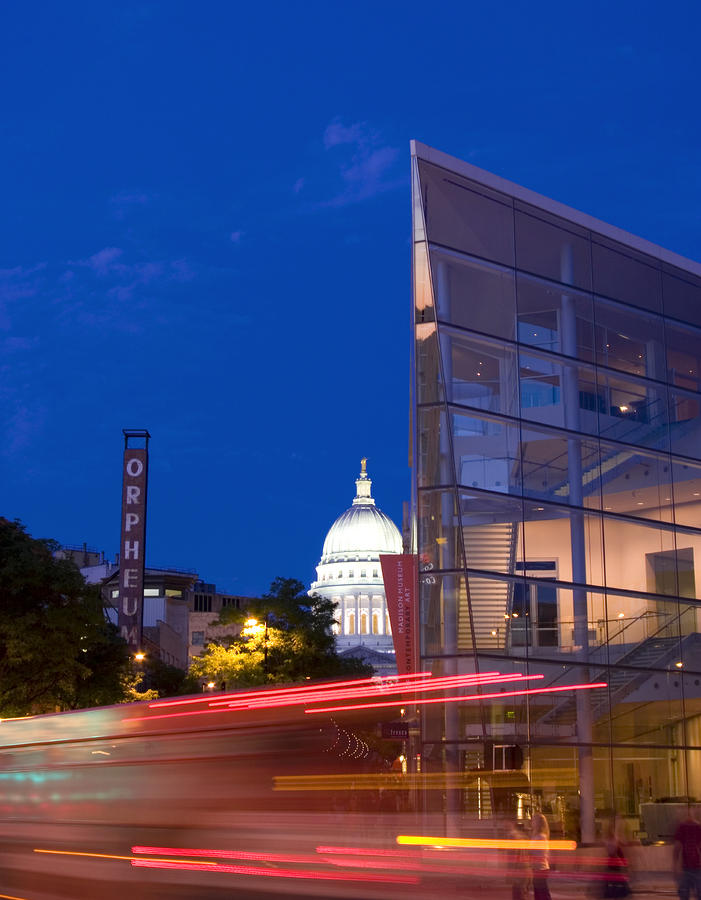 Overture Center On State Street In Madison Wisconsin Photograph