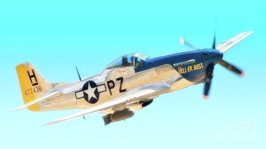 P-51d Mustang Hell Er Bust 2011 Chino Air Show Photograph
