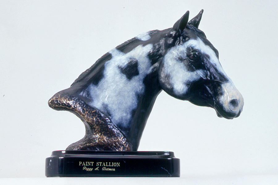 Paint Horse Stallion Sculpture