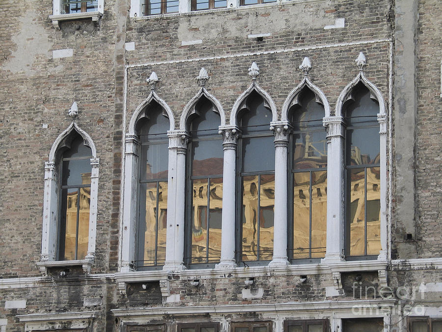 Facade Photograph - Palace. Venice by Bernard Jaubert