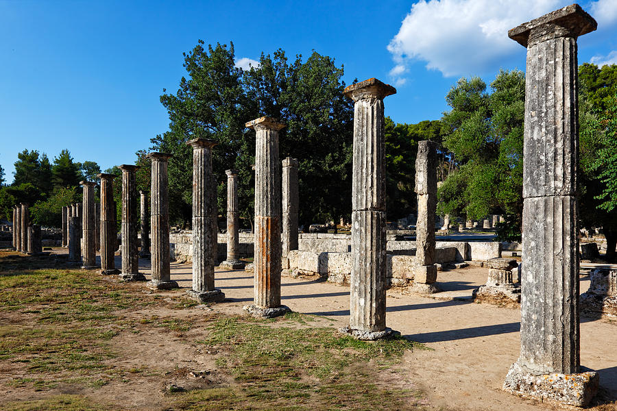 Palaestra Ancient Olympia Photograph By Constantinos