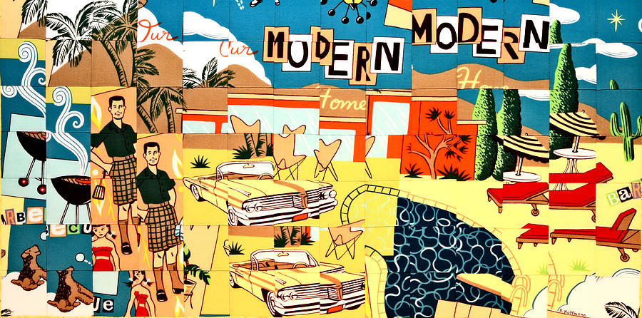 Palm Springs Modern Tapestry - Textile