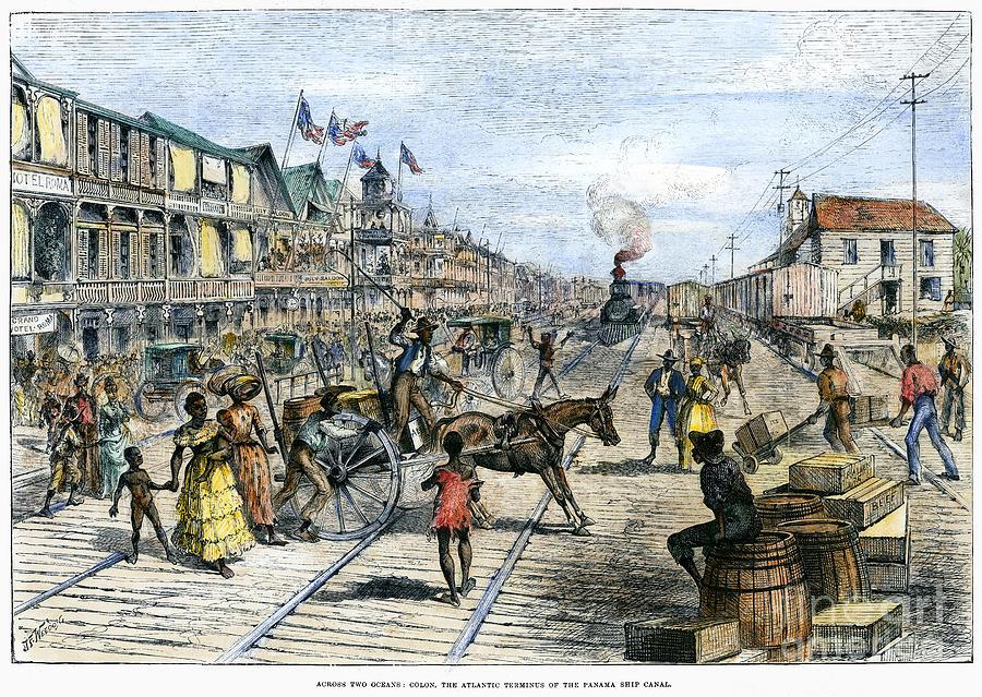 Panama Railway, 1888 Photograph