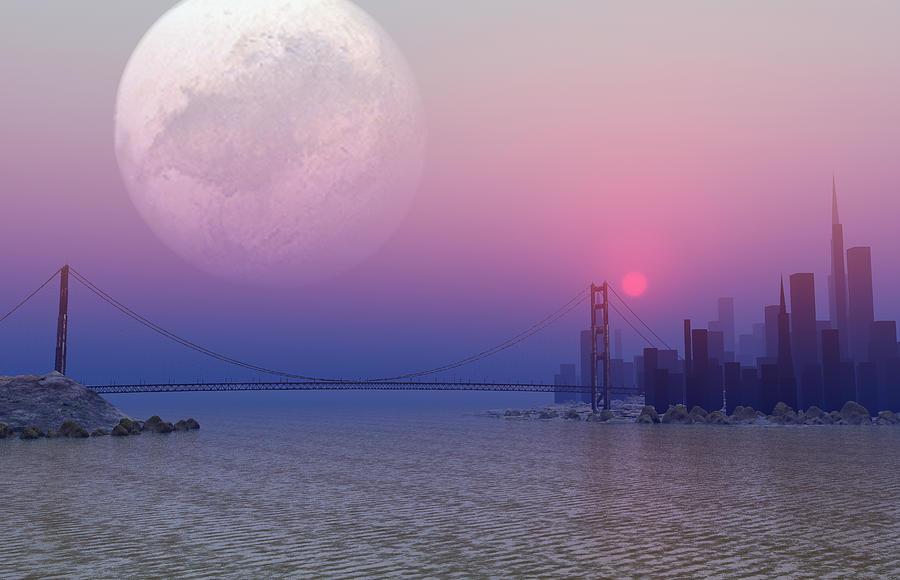 Golden Gate Bridge Photograph - Parallel Universe, Artwork by Take 27 Ltd