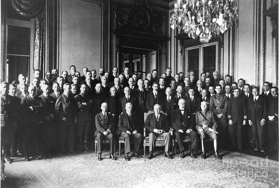1919 Photograph - Paris Peace Conference by Granger