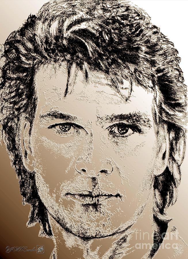 Patrick Swayze Digital Art - Patrick Swayze In 1989 by J McCombie
