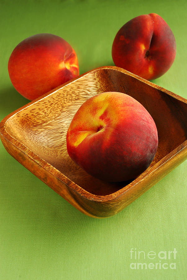 Fruit Photograph - Peaches by HD Connelly