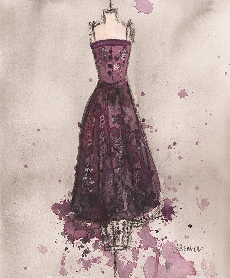 Perfectly Plumb Dress Painting