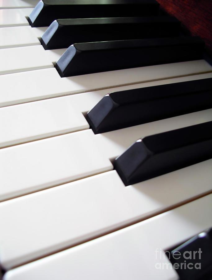Acoustic Photograph - Piano Keys by Carlos Caetano
