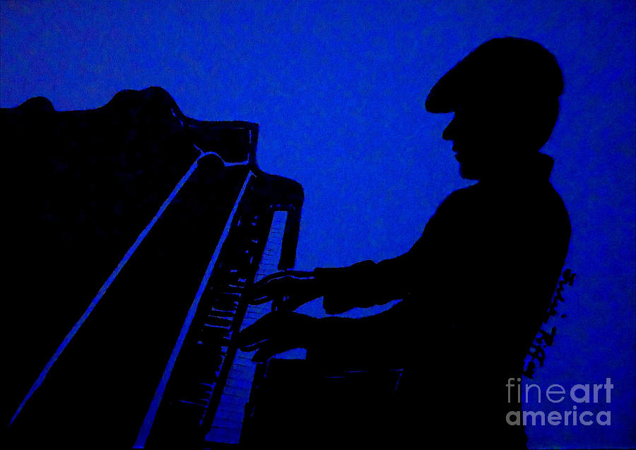 Piano Man Drawing  - Piano Man Fine Art Print