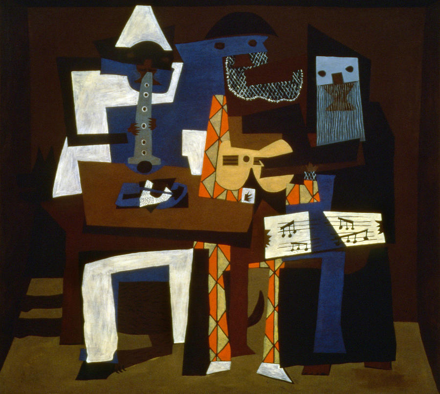 Picasso: Three Musicians Photograph  - Picasso: Three Musicians Fine Art Print