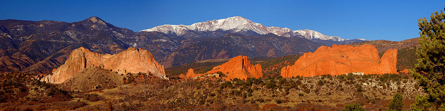 Pikes Peak And Garden Of The Gods Photograph  - Pikes Peak And Garden Of The Gods Fine Art Print