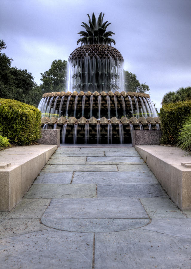 Pineapple Fountain Charleston Sc Photograph  - Pineapple Fountain Charleston Sc Fine Art Print