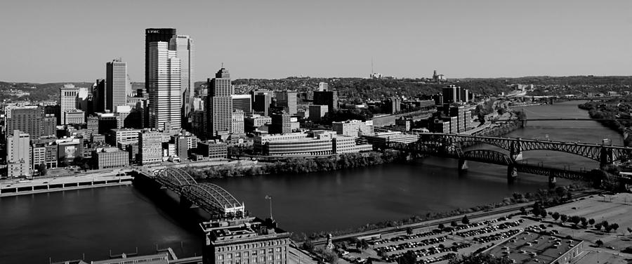 Pittsburgh Skyline Photograph - Pittsburgh In Black And White by Michelle Joseph-Long