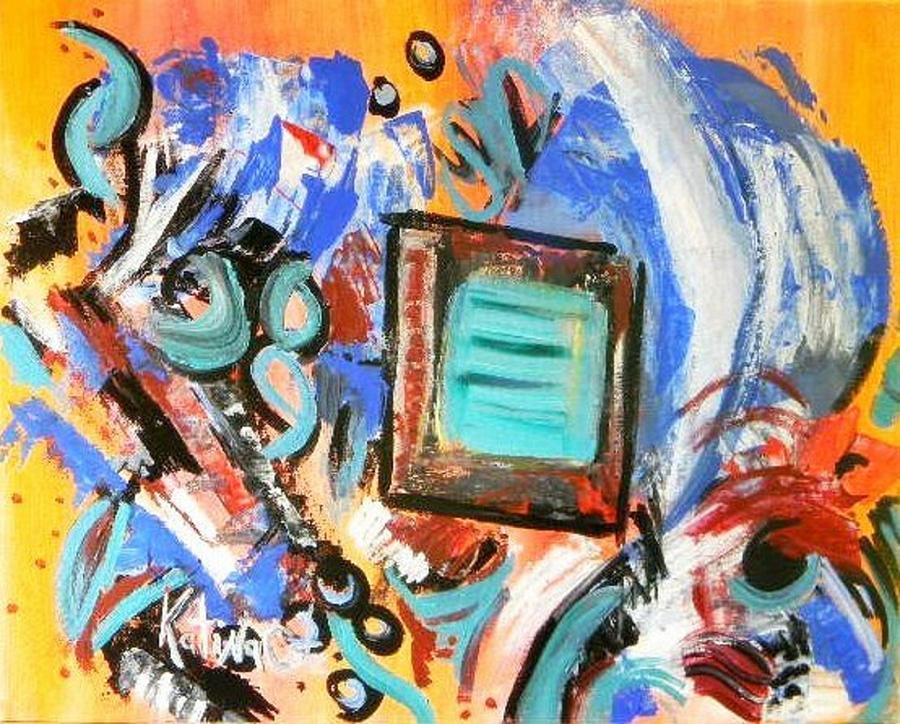 Modern Art Painting - Pizazz by Katina Cote