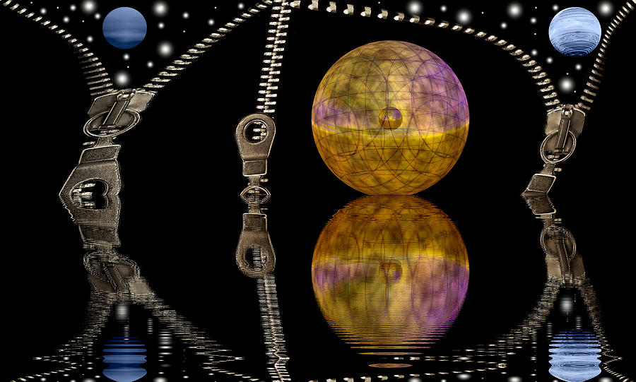 Planets And Zippers Digital Art  - Planets And Zippers Fine Art Print
