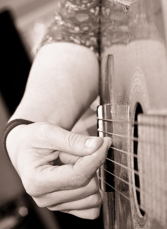Playing Guitar Photograph  - Playing Guitar Fine Art Print