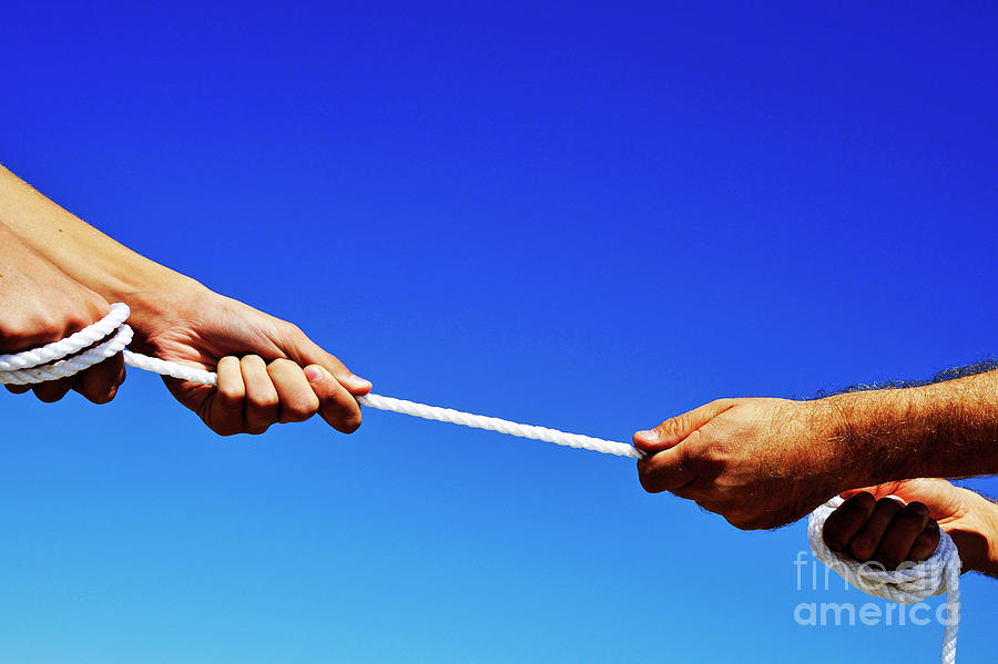 Playing Tug-of-war Photograph