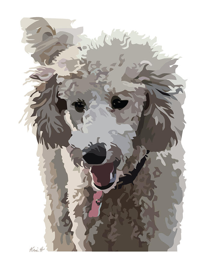 Poodle Portrait II Digital Art  - Poodle Portrait II Fine Art Print